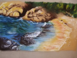 paysage, pastel